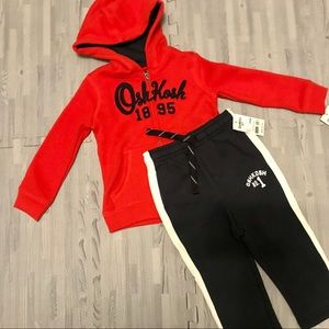 Osh Kosh hoodie and sweatpants bundle